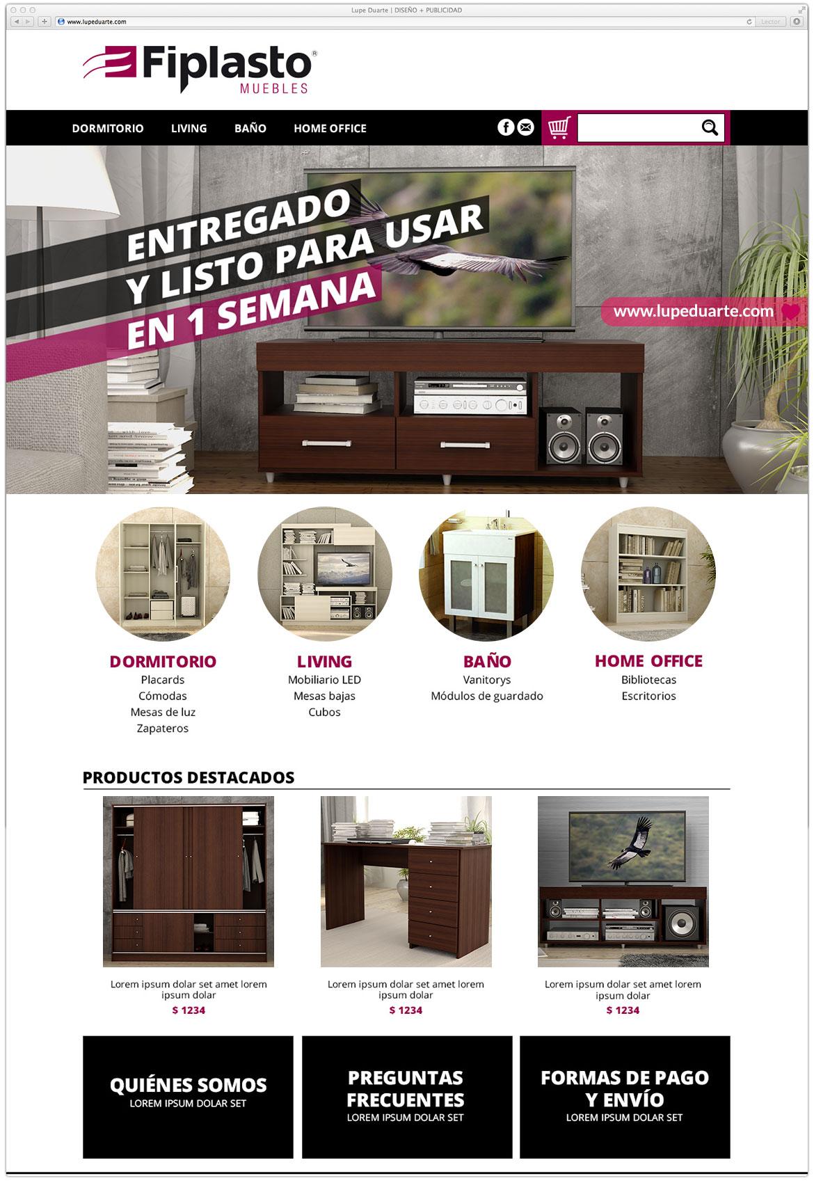 Lupe Duarte Dise O Mercadoshops # Muebles Fiplasto